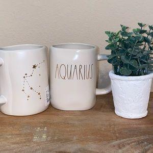 Rae Dunn Aquarius ♒️ White mug